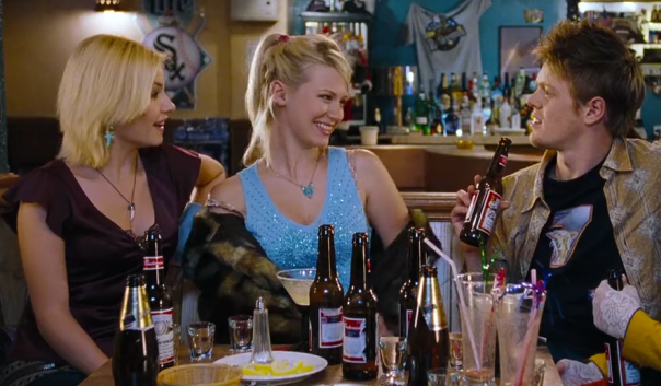 "Oh, but hi January Jones! And ELISHA CUTHBERT! You are super super funny on ""Happy Endings."""